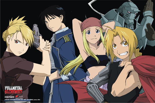 Fullmetal Alchemist - Group 2 Paper Poster, an officially licensed product in our Fullmetal Alchemist Posters department.