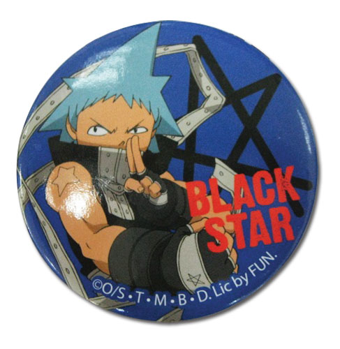 Soul Eater Black Star Button, an officially licensed product in our Soul Eater Buttons department.