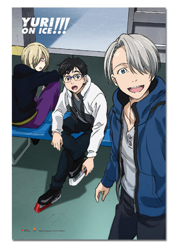 Yuri!!! On Ice - Ice Skating Group Paper Poster, an officially licensed product in our Yuri!!! On Ice Posters department.