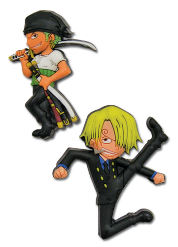 One Piece Zoro & Sanji Pin Set, an officially licensed product in our One Piece Pins & Badges department.