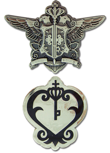Black Butler Phantomhive Emblem And Sebastian Watch Emblem Pinset, an officially licensed Black Butler product at B.A. Toys.