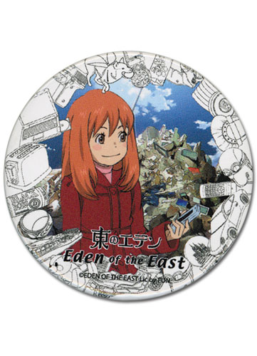Eden Of The East Morimi Button, an officially licensed Eden Of The East product at B.A. Toys.