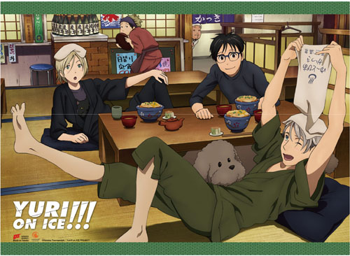 Yuri On Ice!!! - Japanese Restaurant Fabric Poster, an officially licensed product in our Yuri!!! On Ice Posters department.