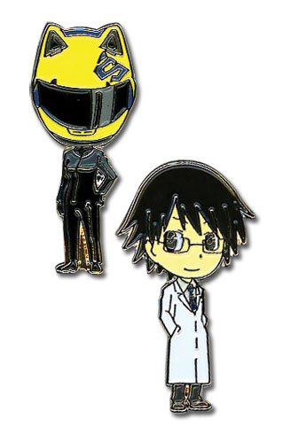 Durarara!! Celty, Shinra Metal Pin Set officially licensed product at B.A. Toys.