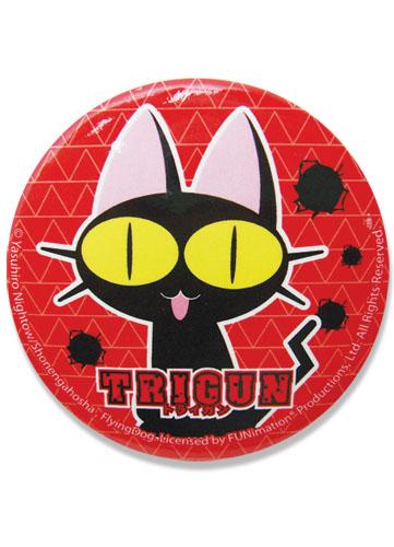 Trigun Neko 2.1875 Button, an officially licensed Trigun product at B.A. Toys.