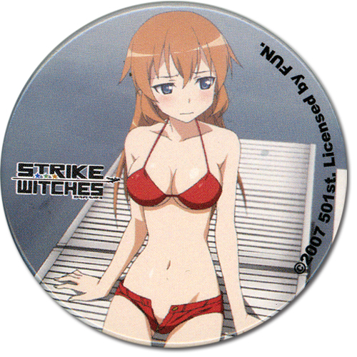 Strike Witches Shirley Button, an officially licensed product in our Strike Witches Buttons department.