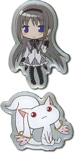 Madoka Magica Homura And Kyubei Pinset, an officially licensed product in our Madoka Magica Pins & Badges department.