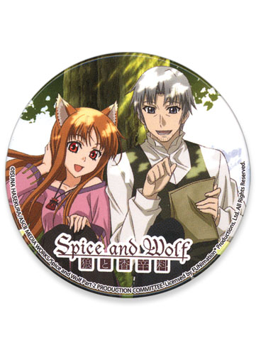 Spice And Wolf Couple Button, an officially licensed product in our Spice & Wolf Buttons department.