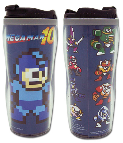 Megaman 10 Megaman & Bosses Tumbler officially licensed Mega Man Mugs & Tumblers product at B.A. Toys.