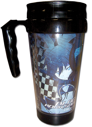 Black Rock Shooter - Black Rock Shooter Tumbler With Handle, an officially licensed Black Rock Shooter Mug / Tumbler