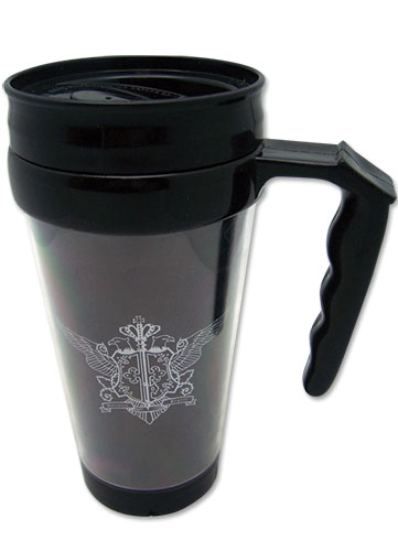 Black Butler Phantomhive Tumbler With Handle officially licensed Black Butler Mugs & Tumblers product at B.A. Toys.