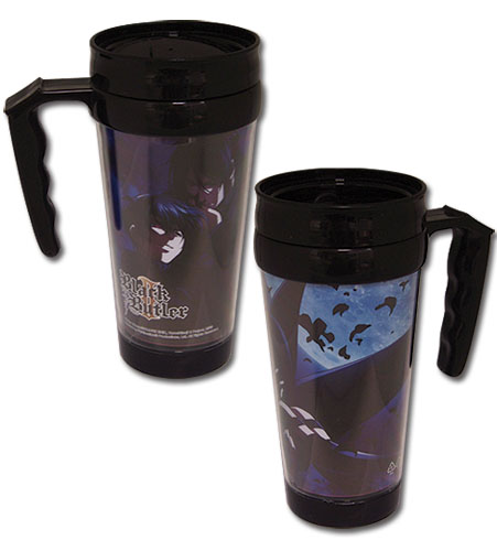 Black Butler 2 - Sebastian And Ciel Tumbler With Handle officially licensed Black Butler Mugs & Tumblers product at B.A. Toys.