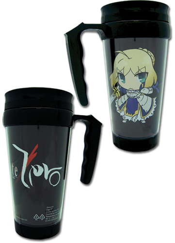 Fate/zero Saber Tumbler With Handle, an officially licensed Fate Zero Mug / Tumbler