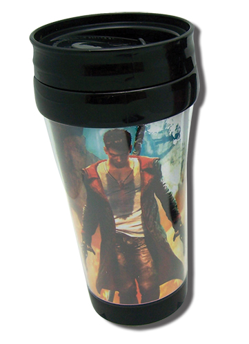 Devil May Cry Dante Tumbler With Handle, an officially licensed Devil May Cry Mug / Tumbler