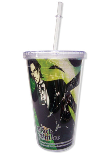 Black Butler 2 Sebastain & Claude Tumbler With Lid, an officially licensed product in our Black Butler Mugs & Tumblers department.