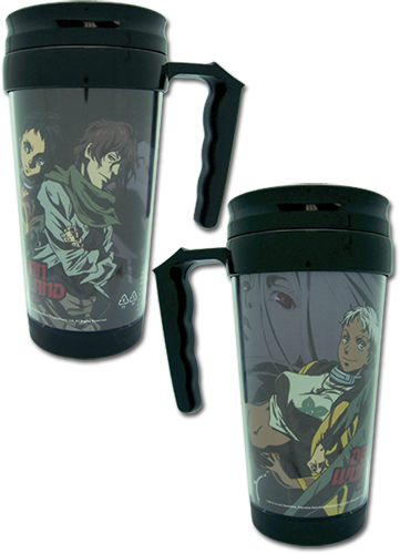 Deadman Wonderland Group Tumbler With Handle, an officially licensed Deadman Wonderland Mug / Tumbler