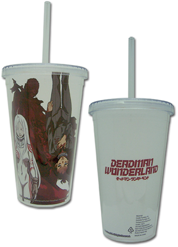 Deadman Wonderland - Tumbler With Lid officially licensed Deadman Wonderland Mugs & Tumblers product at B.A. Toys.