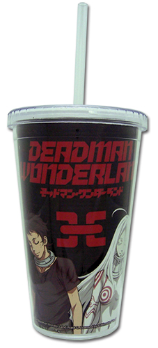 Deadman Wonderland Tumbler With Lid, an officially licensed product in our Deadman Wonderland Mugs & Tumblers department.