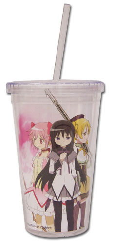 Madoka Magica Movie Homura & Mami Tumbler With Lid officially licensed Madoka Magica Mugs & Tumblers product at B.A. Toys.
