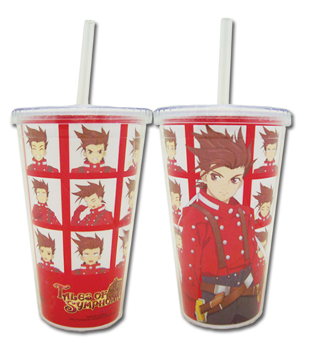 Tales Of Symphonia - Lloyd'S Tumbler With Lid officially licensed Tales Of Symphonia Mugs & Tumblers product at B.A. Toys.