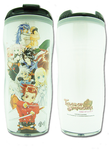 Tales Of Symphonia - Ps2 Keyart 2 Tumbler, an officially licensed product in our Tales Of Symphonia Mugs & Tumblers department.