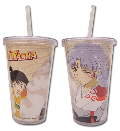Inuyasha - Sesshomaru & Rin Tumbler With Straw Lid officially licensed Inuyahsa Mugs & Tumblers product at B.A. Toys.