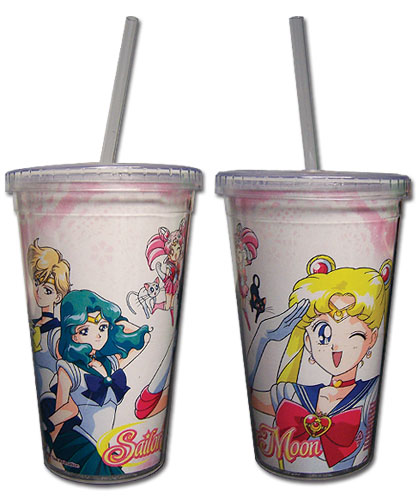 Sailor Moon - Sailor Moon, Chibiusa & Friends Tumbler With Straw Lid officially licensed Sailor Moon Mugs & Tumblers product at B.A. Toys.