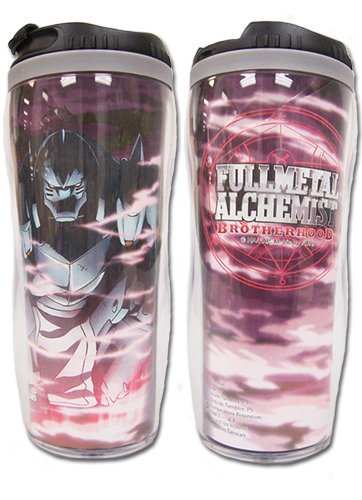 Fullmetal Alchemist Brotherhood - Battle Ready Alphonse Tumbler, an officially licensed Full Metal Alchemist Mug / Tumbler