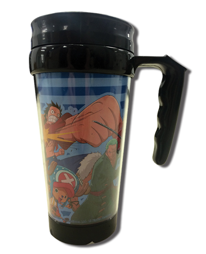 One Piece - New World Fighting Group Tumbler With Handle, an officially licensed product in our One Piece Mugs & Tumblers department.