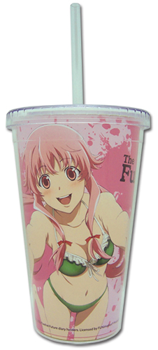 Future Diary - Yuno Tumbler With Lid officially licensed Future Diary Mugs & Tumblers product at B.A. Toys.