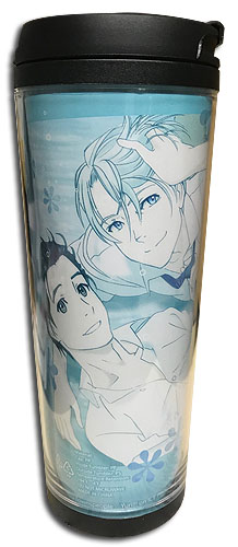 Yuri On Ice!!! - Yuri & Victor Lying On Ground Tumbler, an officially licensed product in our Yuri!!! On Ice Mugs & Tumblers department.