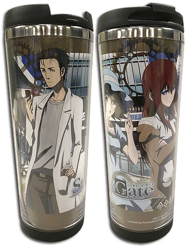 Stein's;Gate - Group 01 Tumbler, an officially licensed product in our Stein;S Gate Mugs & Tumblers department.