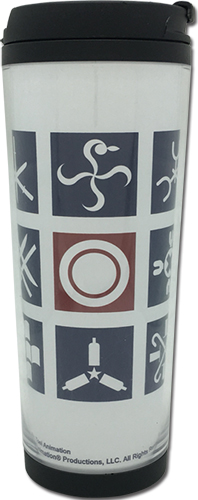 One Piece - Straw Hat Crew Symbols Tumbler, an officially licensed product in our One Piece Mugs & Tumblers department.