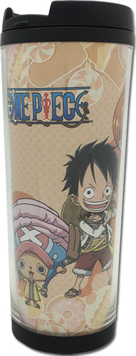 One Piece - Sd Luffy Group Tumbler officially licensed One Piece Mugs & Tumblers product at B.A. Toys.