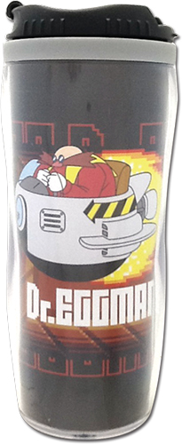 Classic Sonic - Dr.Eggman Tumbler officially licensed Sonic Mugs & Tumblers product at B.A. Toys.