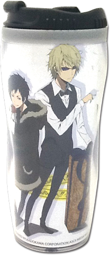 Durarara!! X2 - Izaya & Shizuo With Gift Tumbler, an officially licensed product in our Durarara!! Mugs & Tumblers department.
