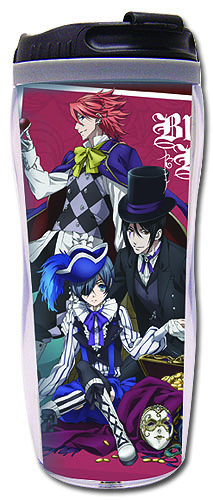Black Butler - Red Group Tumbler officially licensed Black Butler Mugs & Tumblers product at B.A. Toys.