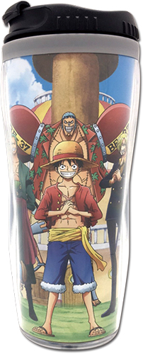 One Piece - Group In The Ship Tumbler officially licensed One Piece Mugs & Tumblers product at B.A. Toys.