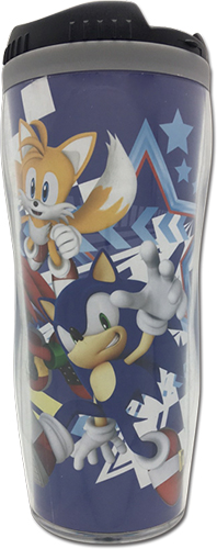 Sonic The Hedgehog - Sonic, Tails & Knuckles Tumbler officially licensed Sonic Mugs & Tumblers product at B.A. Toys.