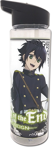 Seraph Of The End - Yuichiro & Mikaela Tritan Water Bottle, an officially licensed product in our Seraph Of The End Mugs & Tumblers department.