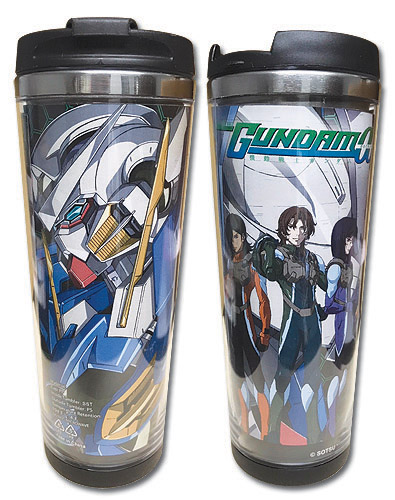 Gundam 00 - Group Tumbler officially licensed Gundam 00 Mugs & Tumblers product at B.A. Toys.