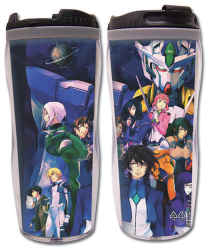 Gundam 00 Movie - Group Tumbler, an officially licensed product in our Gundam 00 Mugs & Tumblers department.