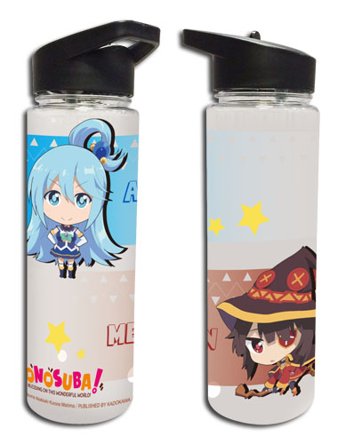 Konosuba - Aqua & Megumin Tritan Water Bottle officially licensed Konosuba Mugs & Tumblers product at B.A. Toys.