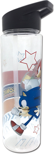 Sonic The Hedgehog - Group Run Tritan Water Bottle officially licensed Sonic Mugs & Tumblers product at B.A. Toys.