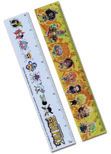 One Piece Sd Straw Hat Pirates Lenticular Ruler (5 Pcs/Pack) officially licensed One Piece Stationery product at B.A. Toys.
