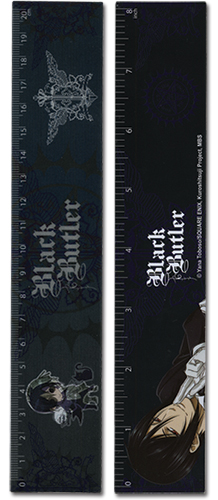 Black Butler Sebastian & Ciel Lenticular Ruler (5 Pcs/pack), an officially licensed Black Butler Stationery