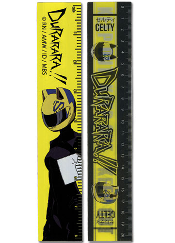 Durarara!! Celty Lenticular Ruler (5 Pcs/pack), an officially licensed Durarara Stationery