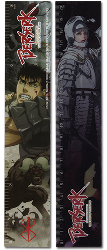 Berserk Group Lenticular Ruler (5 Pcs/pack), an officially licensed Berserk Stationery