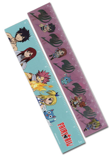 Fairy Tail Fairy Tail Lenticular Ruler (5 Pcs/pack), an officially licensed Fairy Tail Stationery