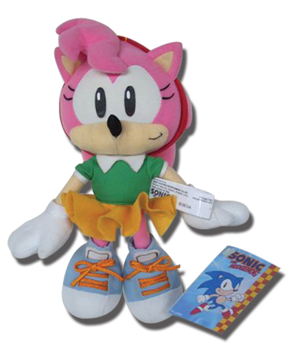Classic Sonic Amy 9 Plush, an officially licensed Sonic product at B.A. Toys.